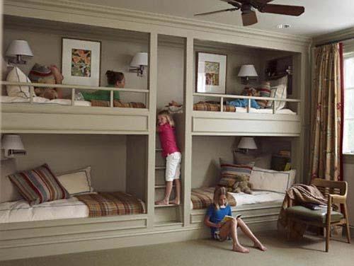 l shaped triple bunk bed plans