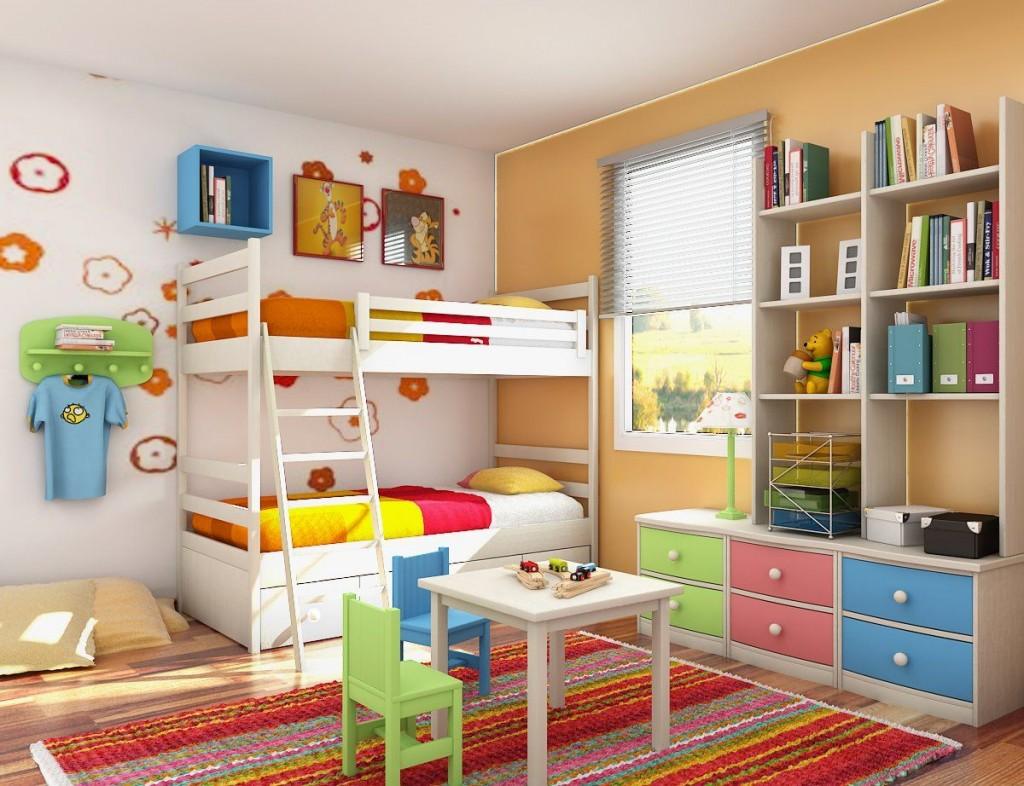 Neat and tidy kids bedroom design 1 classic ideas to decorate your home - Kids bedroom decoration ideas ...
